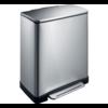 EKO Pedaalemmer E-Cube Recycling - 28+18 liter - Mat RVS