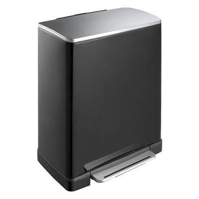 EKO Pedaalemmer E-Cube Recycling - 28+18 liter - Zwart