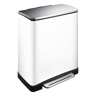 EKO Pedaalemmer E-Cube Recycling - 28+18 liter - Wit