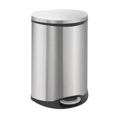 Eko Shell Step Bin - 2x22 liter - Mat RVS