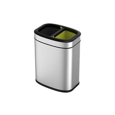 Eko OLI-Cube - 10+10 liter - Mat RVS