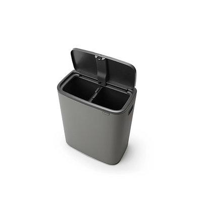 Bo Touch Bin 2x 30L Mineral Concrete Grey