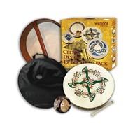 "Waltons 15"" Clonmacnoise Bodhran With Beater DVD Tutor & Case"