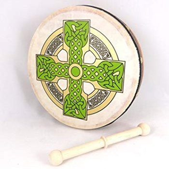 "IRISH BODHRAN 8"" CLOGHAN CROSS BODHRAN"