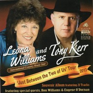 TONY KERR AND LEONA WILLIAMS - JUST BETWEEN THE TWO OF US (CD)