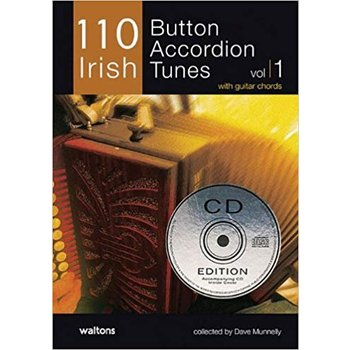 110 BUTTON ACCORDION TUNES BOOK (with CD)