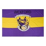 OFFICIAL GAA CREST COUNTY FLAG - WEXFORD