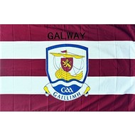 OFFICIAL GAA CREST COUNTY FLAG - GALWAY