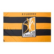 OFFICIAL GAA CREST COUNTY FLAG - KILKENNY