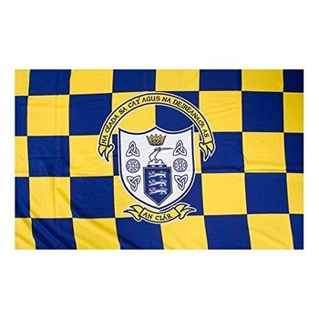 OFFICIAL GAA CREST COUNTY FLAG - CLARE