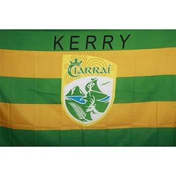 OFFICIAL GAA CREST COUNTY FLAG - KERRY