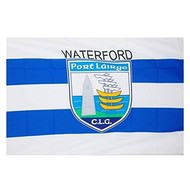 OFFICIAL GAA CREST COUNTY FLAG - WATERFORD...