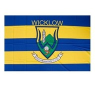 OFFICIAL GAA CREST COUNTY FLAG - WICKLOW