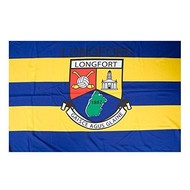 OFFICIAL GAA CREST COUNTY FLAG - LONGFORD