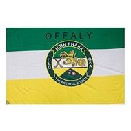OFFICIAL GAA CREST COUNTY FLAG - OFFALY