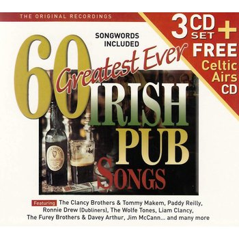 60 Greatest Ever Irish Pub Songs - Various Artists (CD)