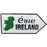 METAL ROAD SIGN - MAP OF IRELAND...