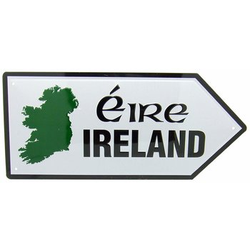 METAL ROAD SIGN - MAP OF IRELAND