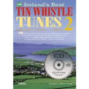 Harry Long - 110 Ireland's Best Tin Whistle Tunes Vol 2 Book with CD