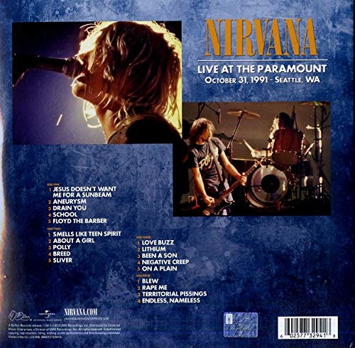 Nirvana Live At The Paramount Lp Cdworld Ie