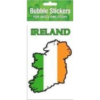 IRELAND STICKER - IRELAND TRICOLOUR MAP STICKER