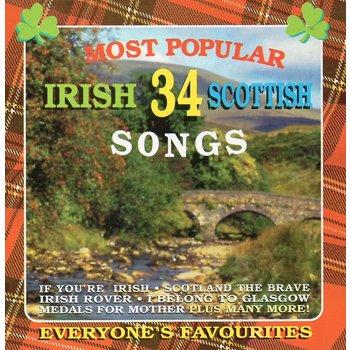 34 MOST POPULAR IRISH & SCOTTISH SONGS - VARIOUS ARTISTS (CD)