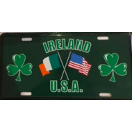 Novelty American Wall Style Car Registration Plate With An Irish Twist