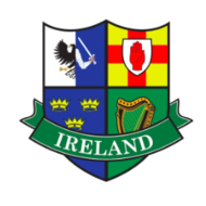 IRISH CAR/WINDOW LAMINATED STICKER (FOUR PROVINCE CREST)