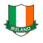 IRISH CAR/WINDOW LAMINATED STICKER (TRICOLOUR CREST)