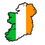 IRISH CAR/WINDOW LAMINATED STICKER (MAP OF IRELAND)