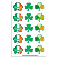 IRISH CAR/WINDOW LAMINATED STICKER (SHAMROCK STICKERS)