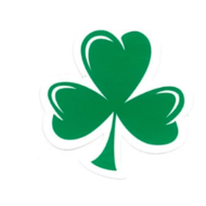 IRISH CAR/WINDOW LAMINATED STICKER (SHAMROCK )