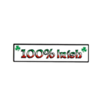IRISH CAR/WINDOW LAMINATED STICKER (100% IRISH)