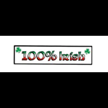 IRISH CAR/WINDOW LAMINATED STICKER (100% IRISH)