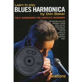 DON BAKER - LEARN TO PLAY BLUES HARMONICA (BOOK & CD)