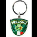 IRELAND CREST SHAMROCK - IRISH KEYRING