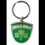 CELTIC CREST SHAMROCK - IRISH KEYRING