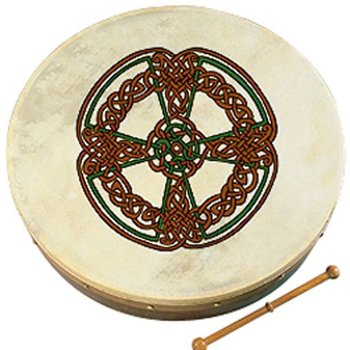 WALTONS 8'' KNOTWORK CROSS BODHRAN