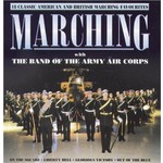 MARCHING WITH THE BAND OF THE ARMY AIR CORPS