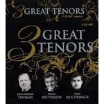 3 GREAT TENORS - JOHN CHARLES THOMAS, FRANK PATTERSON, JOHN MCCORMACK (CD)...