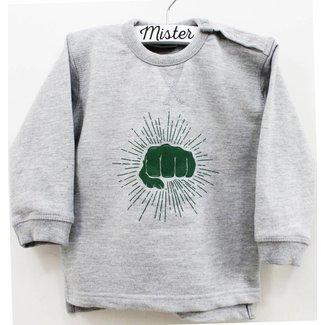 Mister Monsieur Vuistje Sweater Kids