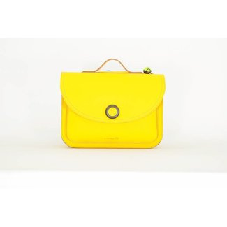 Own Stuff Lederen Boekentas Yellow | Own Stuff