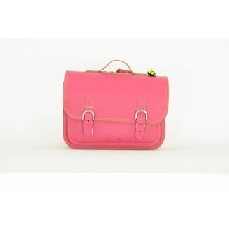 Own Stuff Lederen Boekentas Classic Fuschia | Own Stuff