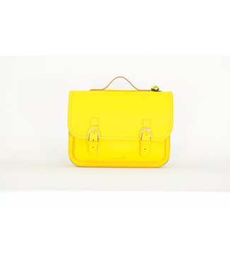 Own Stuff Lederen Boekentas Classic Yellow | Own Stuff
