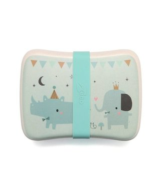 Petit Monkey Bamboo Lunchbox Rhino & Friends | Petit Monkey
