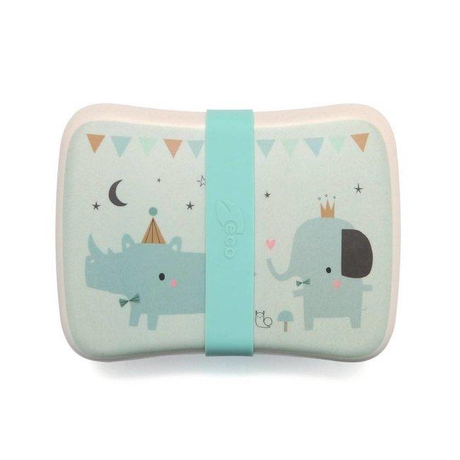 Petit Monkey Bamboo Lunchbox Rhino & Friends | Petit Monkey