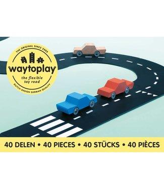 WaytoPlay Autobaan King of the Road (40-delige set) | WaytoPlay