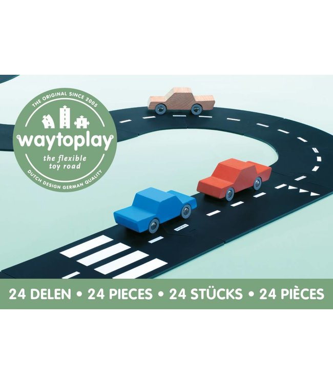 WaytoPlay Autobaan Snelweg (24-delige set) | WaytoPlay
