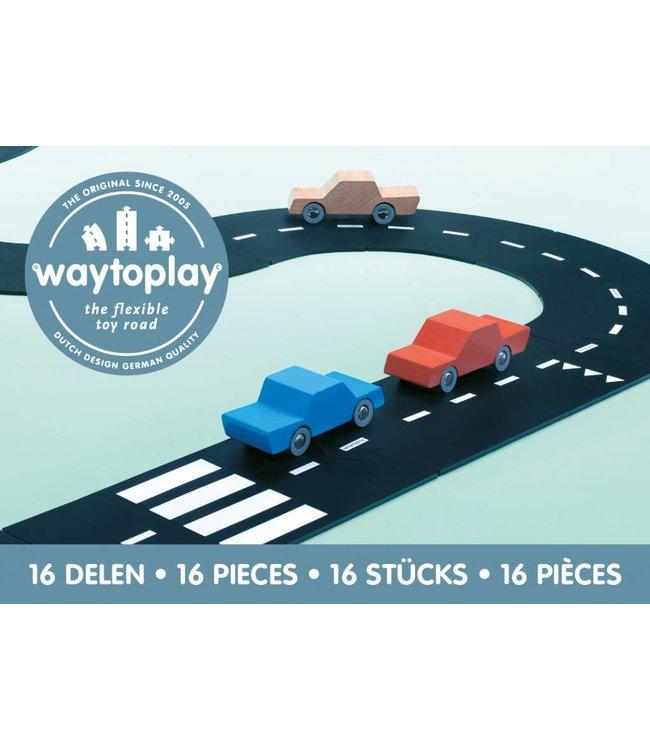 WaytoPlay Autobaan Autoweg (16-delige set) | WaytoPlay