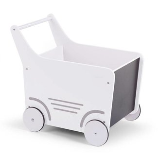 Childhome Houten Loopwagen Wit  |  Childhome